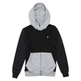 Junior Sweatshirt Volcom Single Stn Clrblk Zip Black