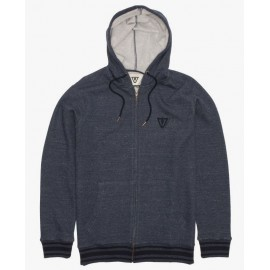 Vissla Established Denim Blue Zip Sweatshirt