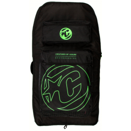 Bodyboard Cover Creatures Double Case Charcoal Lime