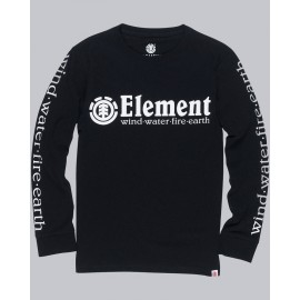 Tee Shirt Manches Longues Junior ELEMENT Horizontal Black