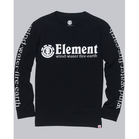 Junior ELEMENT Horizontal Black Long Sleeve Tee Shirt