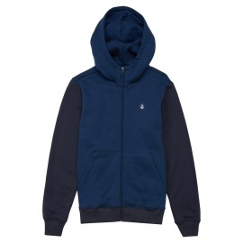 Sweat Junior Volcom Single Stn Clrblk Zip Bleu