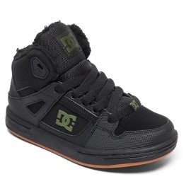 Chaussures DC Junior Pure High-Top WNT Black Black Green