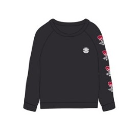 Sweat Femme ELEMENT Love Crew Flint Black