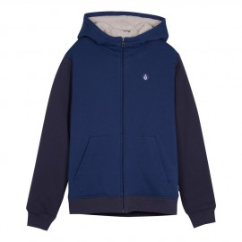 Sweat Doublé Sherpa Junior VOLCOM Single Stone Matured Blue