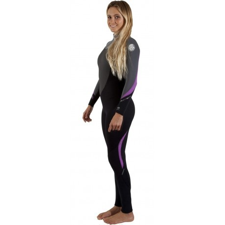 Combinaison Rip Curl Dawn Patrol Women 3/2mm Black Charcoal Purple