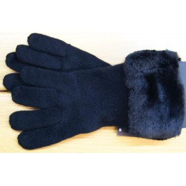 HERMAN Women's Glove Pyrop Black Faux fur
