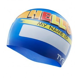 Silicone Swimming Beanie Junior TYR My Name is Blue