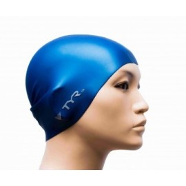 Mixed SILICONE Swimming Beanie TYR Wrinkle Free Navy