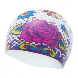 Swimming Cap in SILICONE TYR Graphic Flower Power