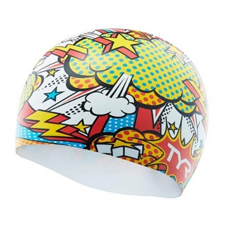SILICONE TYR Graphic Comic Action White Multi Beanie