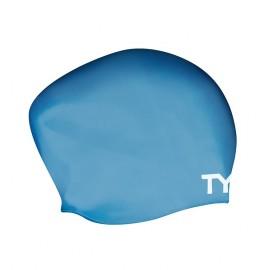 Bonnet De Natation en SILICONE TYR Cheveux Long Blue