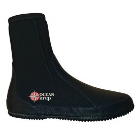 Ocean Step Boots 3mm Black Fluro Red