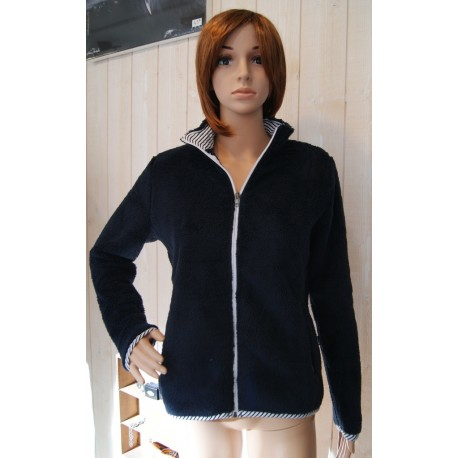 Women's Fleece Top Escale Nautic Proue Marine
