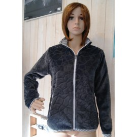 Women's Fleece Top Escale Nautic Poupe Gray