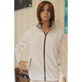 Women's Fleece Top Escale Nautic Poupe Ecru