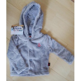 Kids Fleece Jacket PAPYLOU Baltic Marbled Light Gray