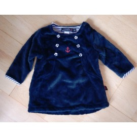 Fleece Baby Dress PAPYLOU Finland Marine