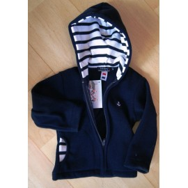Junior Fleece Jacket PAPYLOU Marine Roll