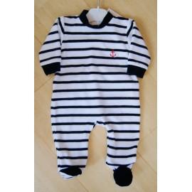 Pyjama Velours Bébé Papylou Pyv Rayé