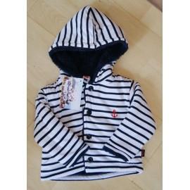 Jacket fleece baby fleece Papylou Tréport Striped