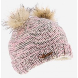Beanie HERMAN Maggy 8225 2 Pompons Gray Heather