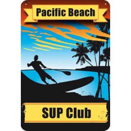 SUP Club Metal Decoration Plate