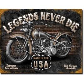 Plaque de Décoration Métal Legend Never Die