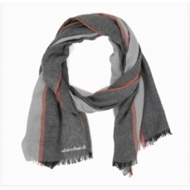 Men's Scarf A Breizh Flip Chevron Gray Brick