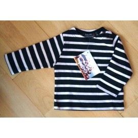 Marines Long Sleeves Baby Papylou MARINE Striped Blue