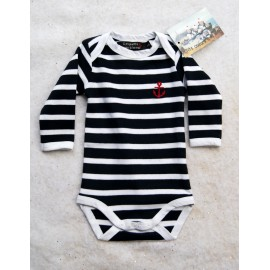 Baby Body Long Sleeve Papylou Navy Striped