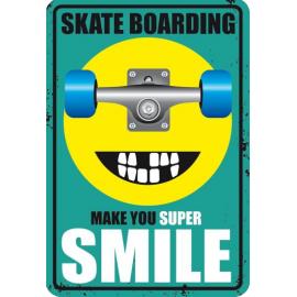 Plaque Métal Smile Skate
