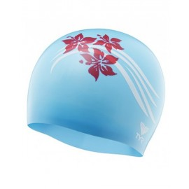 Swimming Beanie in SILICONE TYR Flowers Blue Red