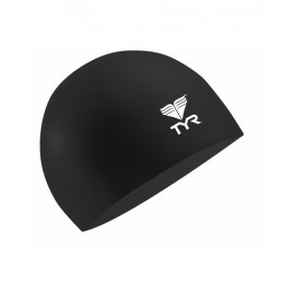 TYR Black Latex Swimming Beanie