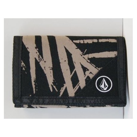 Wallet Volcom Stone Circle Black and Beige