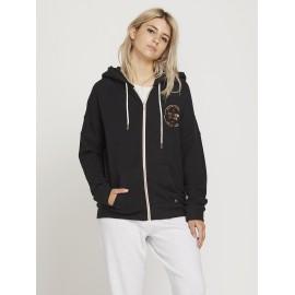 VOLCOM Women's Sweatshirt Lil Zip Black