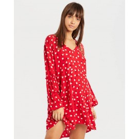 BILLABONG Beach Sun Havana Red Dress