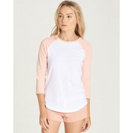 3/4 Sleeve Peach Edge Tee Shirt