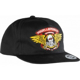 Powell Peralta Winger Patch Snapback Cap Black