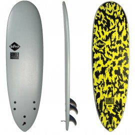 Surf Softech Bomber FCSII 6'4 Grey Acid