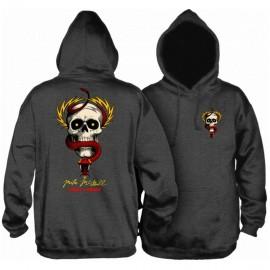 Powell Peralta MCGill Skull & Sword Hooded Sweatshirt Charcoal