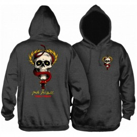 Powell Peralta MCGill Skull & Sword Hooded Sweatshirt Charcoal