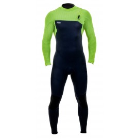 O'Neill Wetsuit Men Hyperfreak Comp Zipless 3/2mm Abyss Dayglo