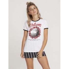 Tee Shirt Femme VOLCOM Keep Goin Ringer White