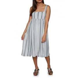 VOLCOM Da BOOM Stripe White Combo Dress