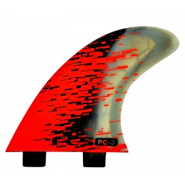 FCS Tri Fins PC-3 Red Smoke
