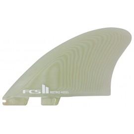 FCSII Fins Modern Keel PG Clear