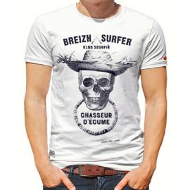 Tee Shirt STERED Breizh Surfer Blanc