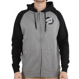 Santa Cruz Other Dot Zip Hood Black Dark Heather