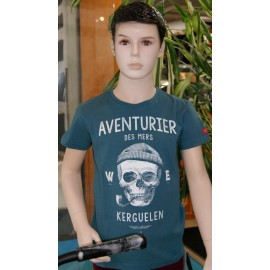 Tee Shirt Child Stered Adventurer Of The Seas Petrol